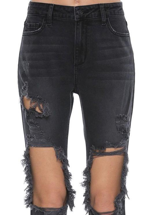 Best Distressed Black Skinnies - Brunch Babe