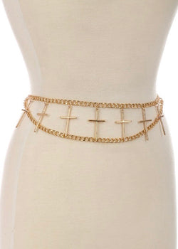 Heaven Sent Chainlink Belt, Gold
