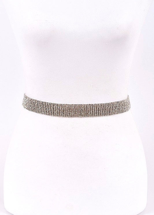 Live It Up Rhinestone Chain Belt - Brunch Babe