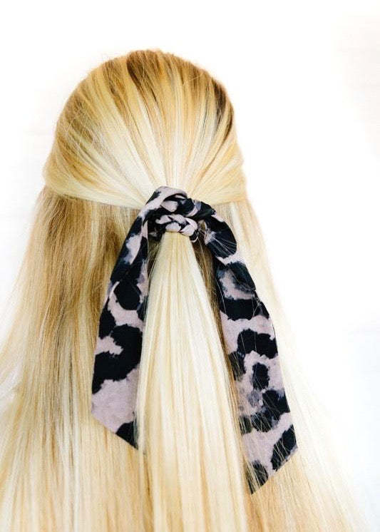 Matte Leopard Scrunchie Hair Scarf - Brunch Babe