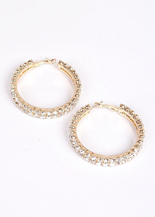 Double Bling Statement Hoops - Brunch Babe