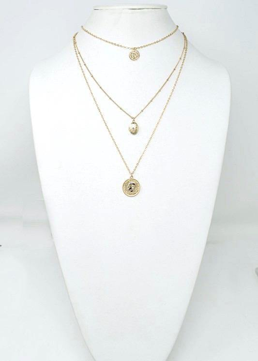 3 Layer Coin Necklace - Brunch Babe
