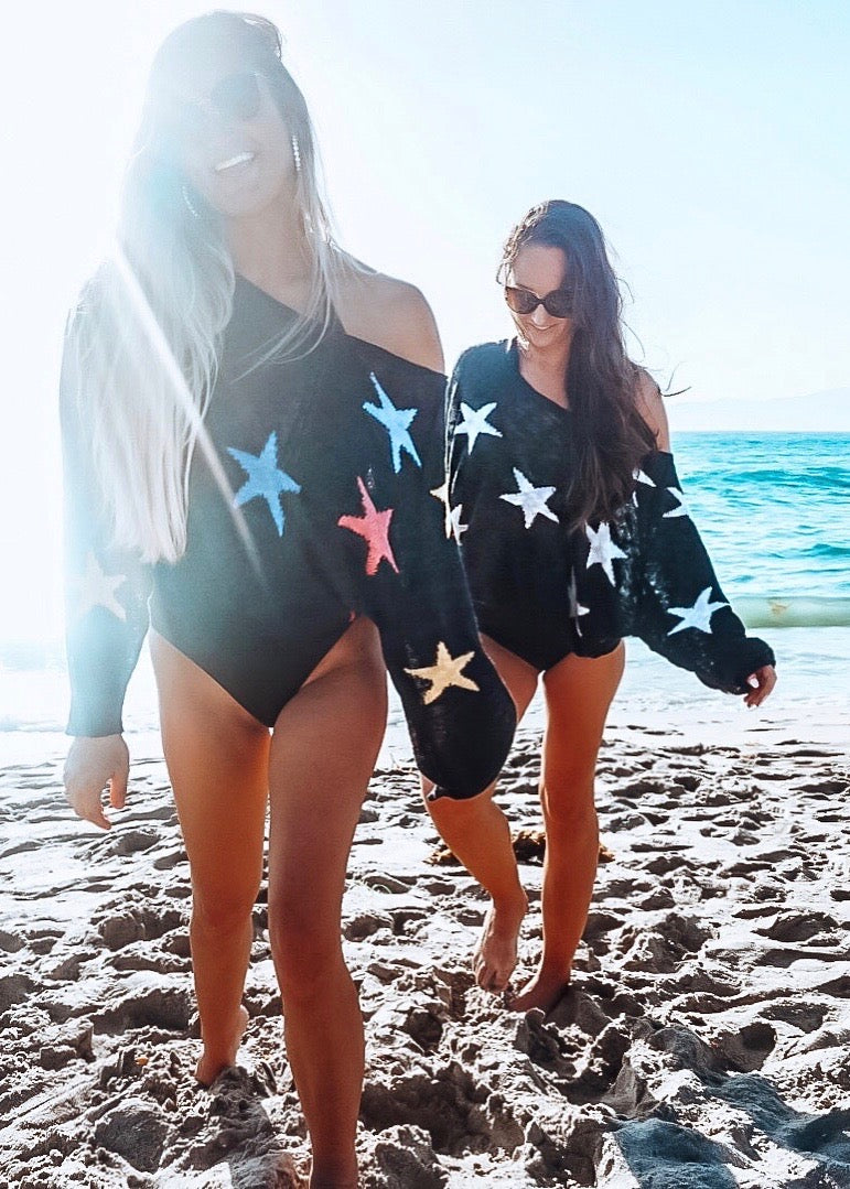 She's A Star Knit Sweater - Brunch Babe