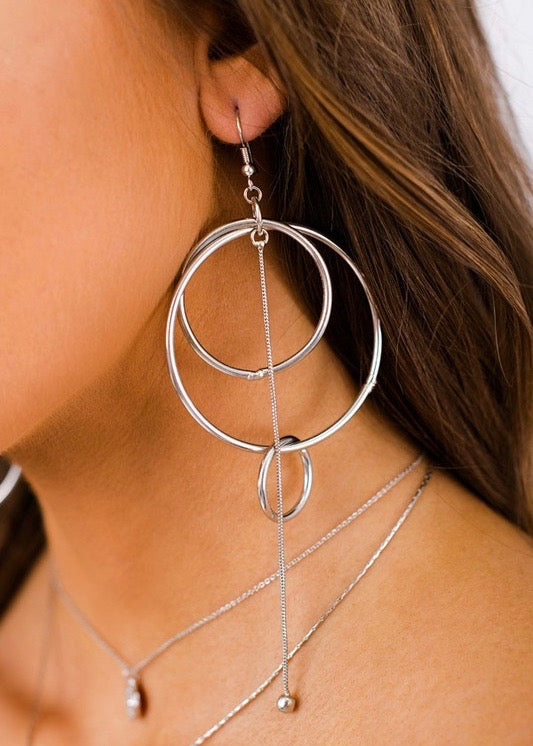 Triple Hoop Statement Earrings