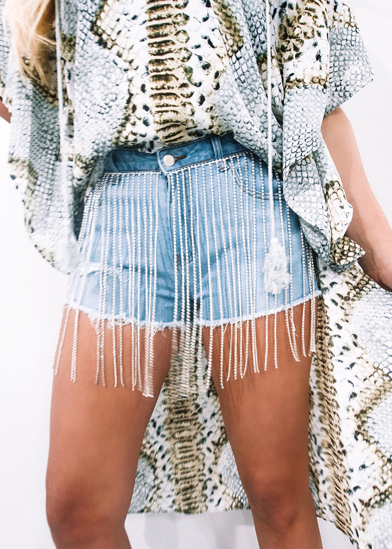 Bling It On Denim Shorts - Brunch Babe