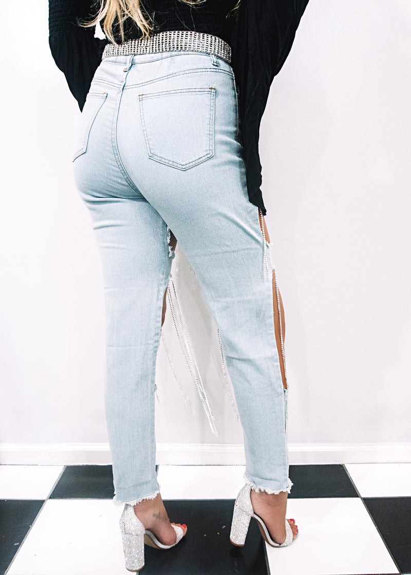 Dripping in Diamonds Skinny Jeans - Brunch Babe