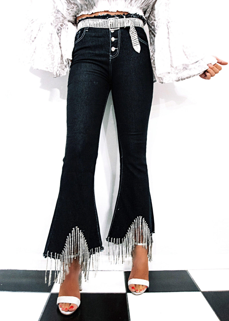 Best Bling Jeans, Black - Brunch Babe