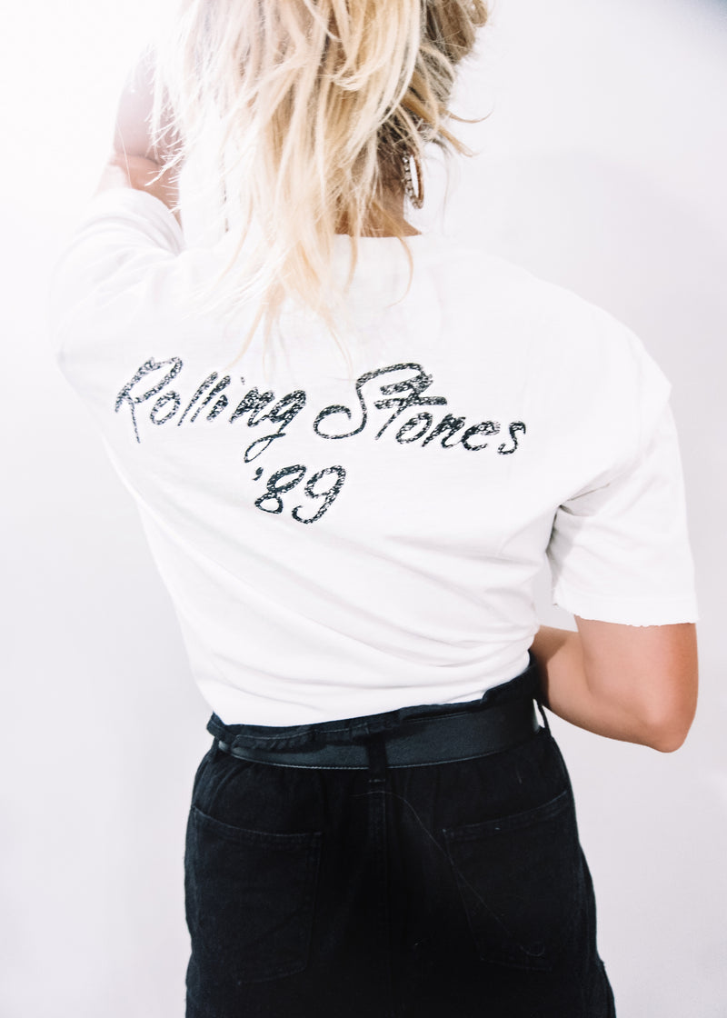 Distressed Rolling Stones Tee - Brunch Babe