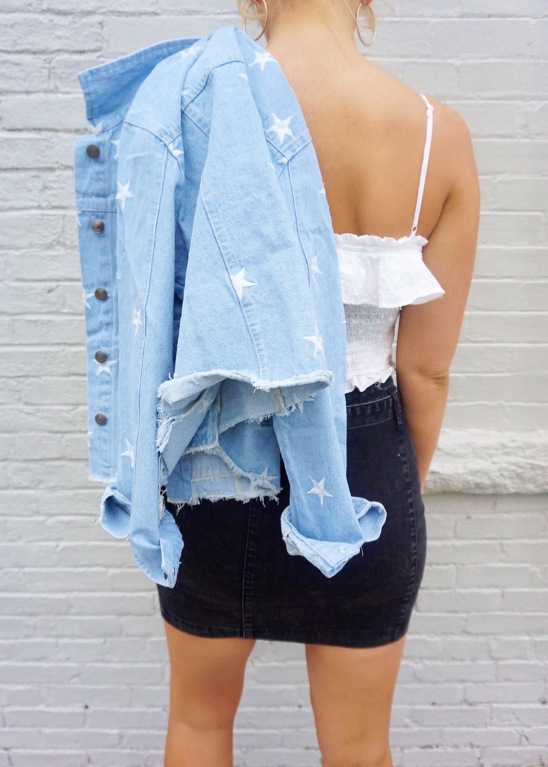 Move Over Babe Denim Skirt - Brunch Babe