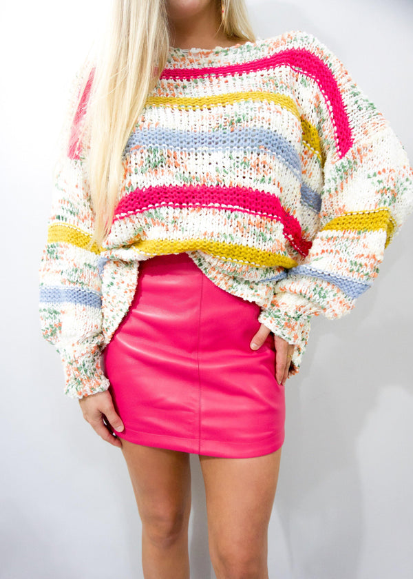 Barbie Pink Leather Skirt - Brunch Babe