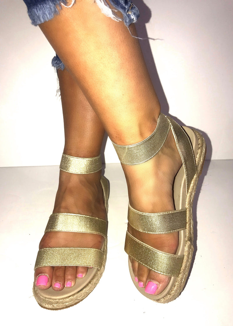 Gold Wrap Sandals - Brunch Babe