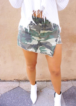 Camo Envelope Shorts - Brunch Babe