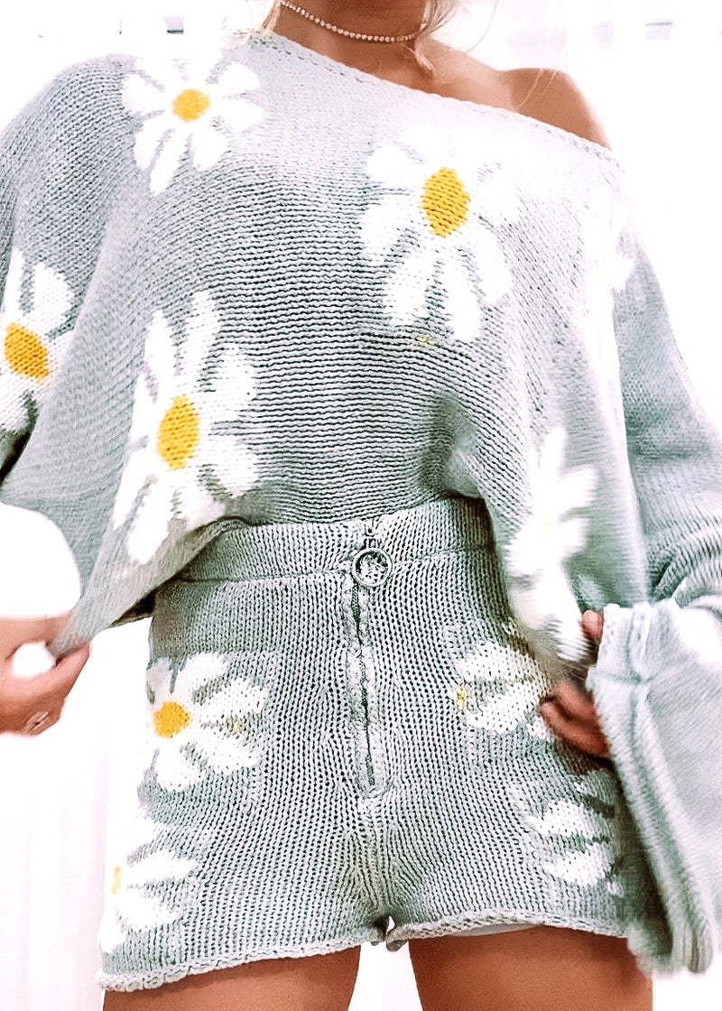Cover Me in Daisies Sweater Set