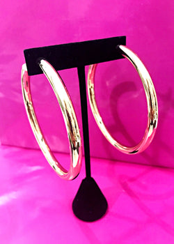 Gold Statement Hoops - Brunch Babe