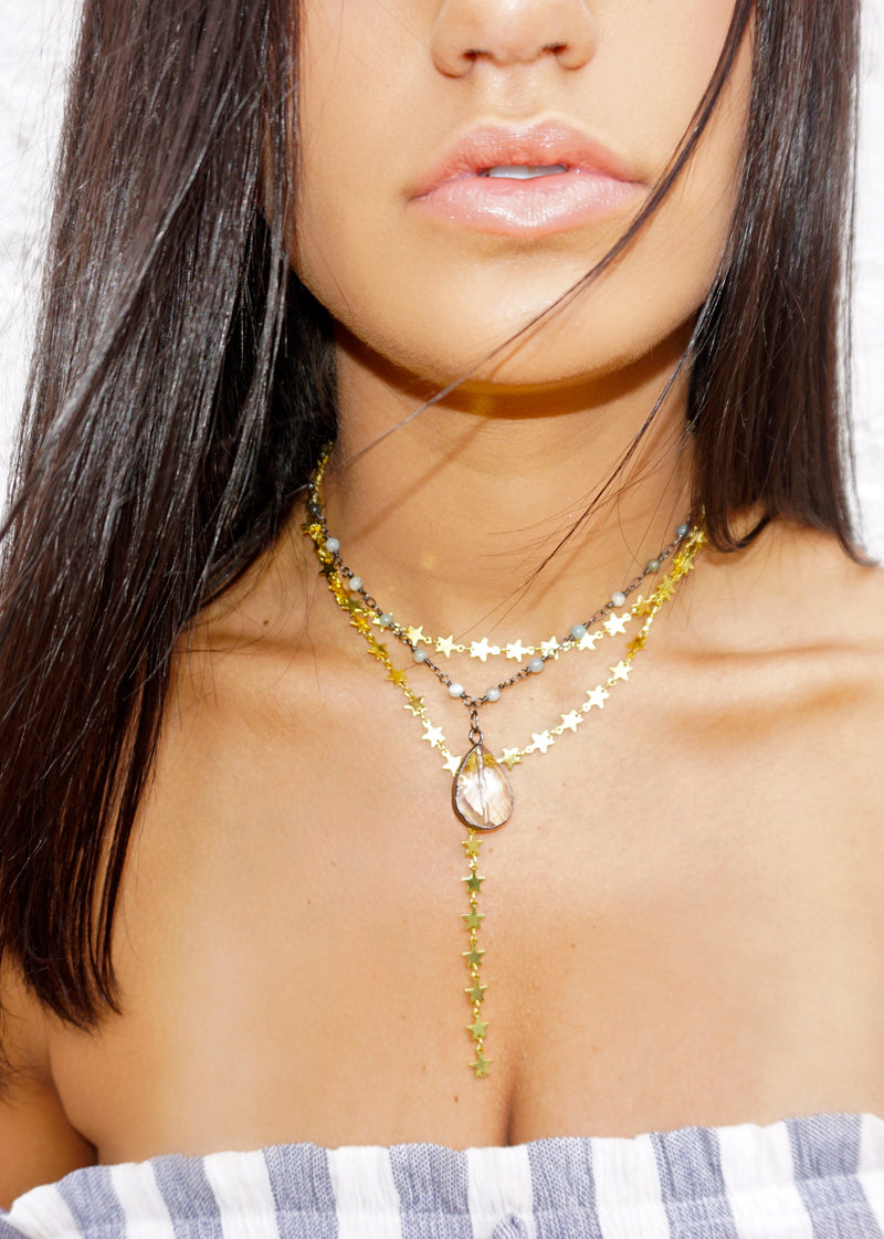 Star Dust Double Layer Choker - Brunch Babe