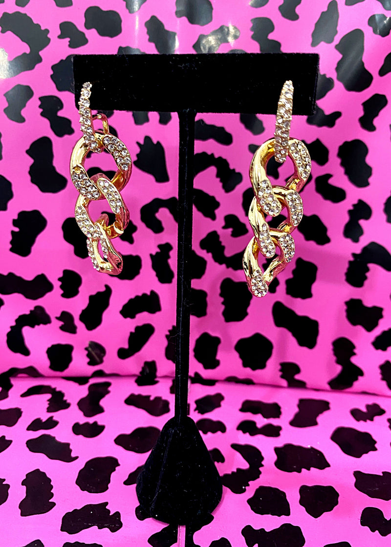 Hooked On You Chainlink Earrings - Brunch Babe