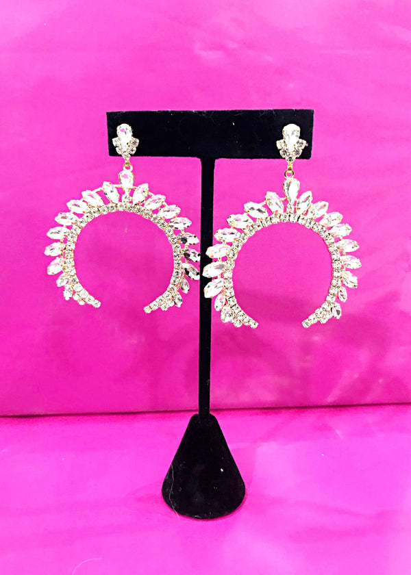 Crescent Statement Earrings - Brunch Babe