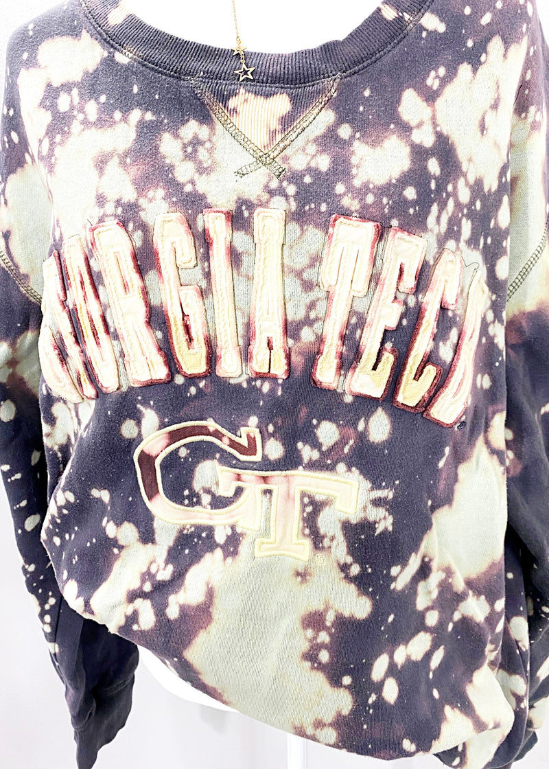 VINTAGE GEORGIA TECH PULLOVER - Brunch Babe