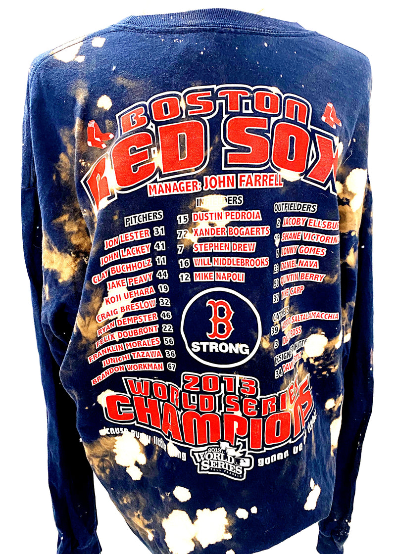 VINTAGE BOSTON RED SOX 2013 WORLD SERIES LONG SLEEVE - Brunch Babe