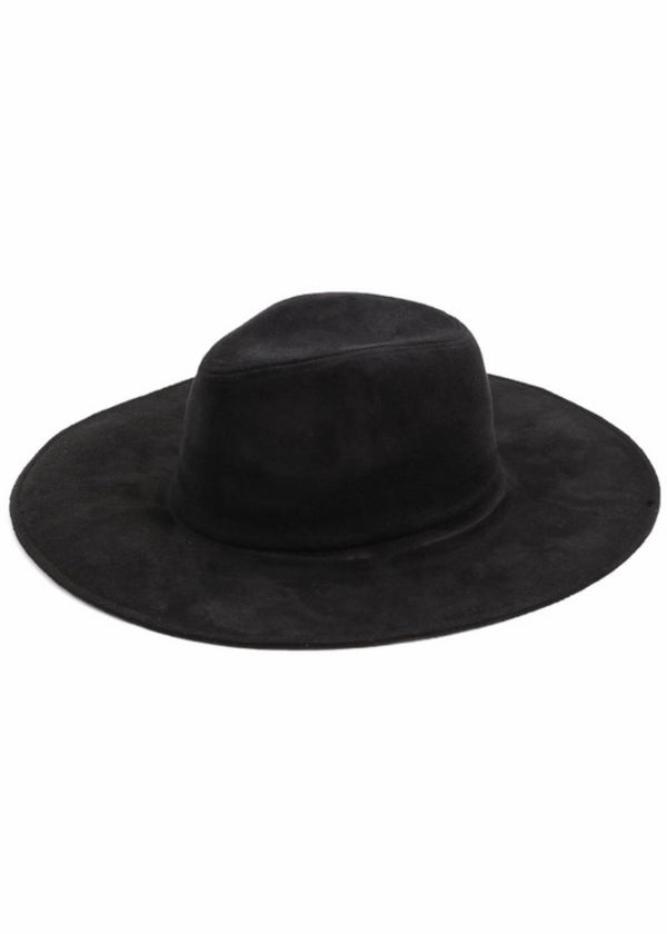 Black Flat Brim Hat - Brunch Babe