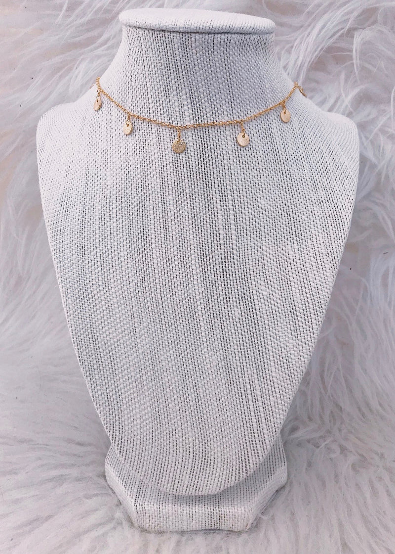 Gold Dangle Choker - Brunch Babe