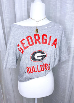 GEORGIA BULLDOGS 1785 TEE, GREY