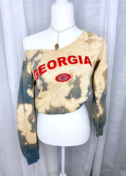 GEORGIA BULLDOGS CREWNECK, GREY