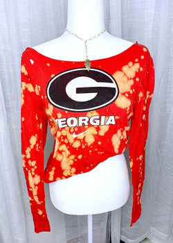 "GEORGIA ""G"" LONG SLEEVE, RED"