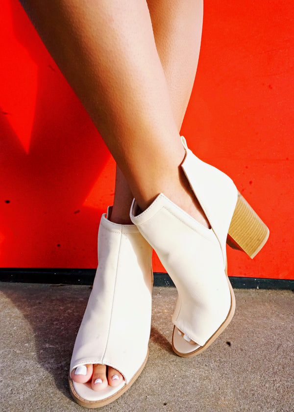 Reese Open Toe Booties - Brunch Babe