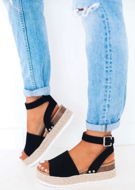 Topic Black Espadrilles - Brunch Babe