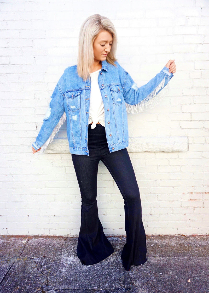 After Party Denim Jacket - Brunch Babe