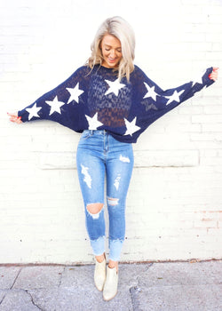 Star in the Night Sweater - Brunch Babe