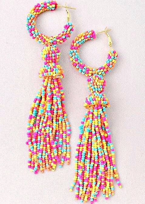 Color My World Earrings, Rainbow - Brunch Babe