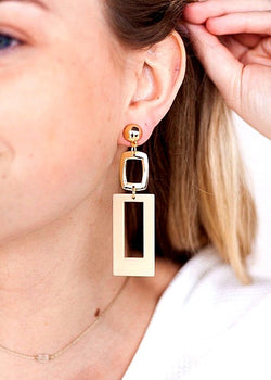 Easy Glam Earrings, Gold/Neutral - Brunch Babe