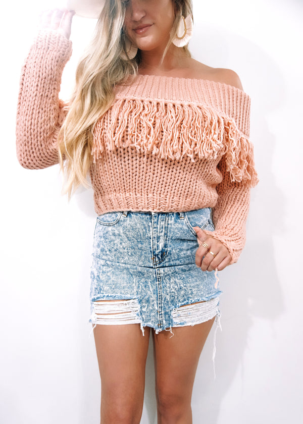 Edgy Babe Denim Skirt - Brunch Babe