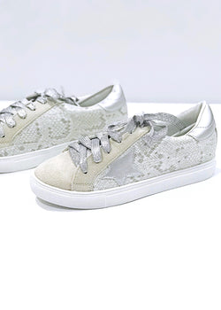 Metallic Star/Snake Sneakers - Brunch Babe