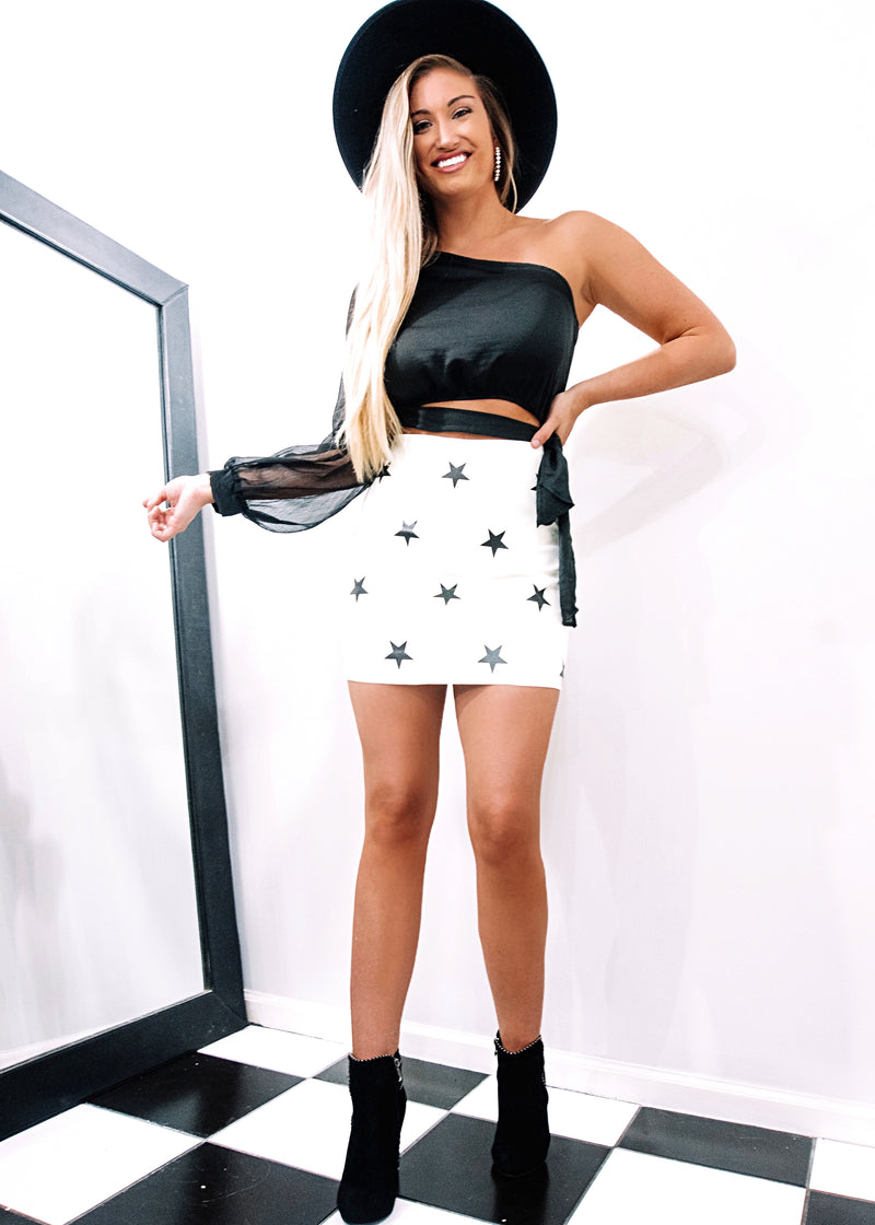 Feelin' Like A Star Faux Leather Skirt - Brunch Babe