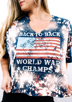 VINTAGE BACK TO BACK WORLD WAR CHAMPS - Brunch Babe