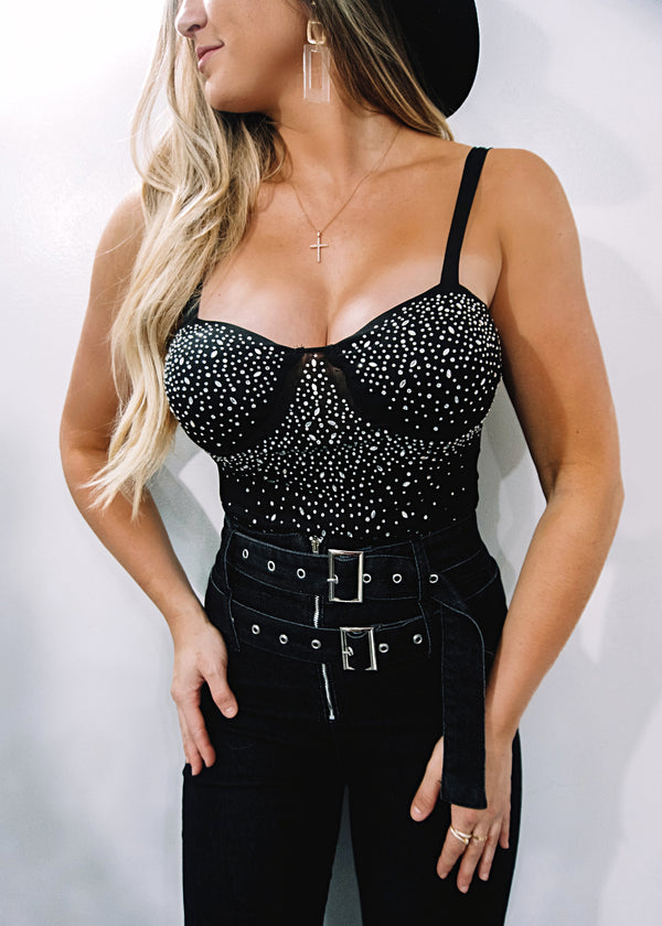 Life of the Party Bodysuit, Black