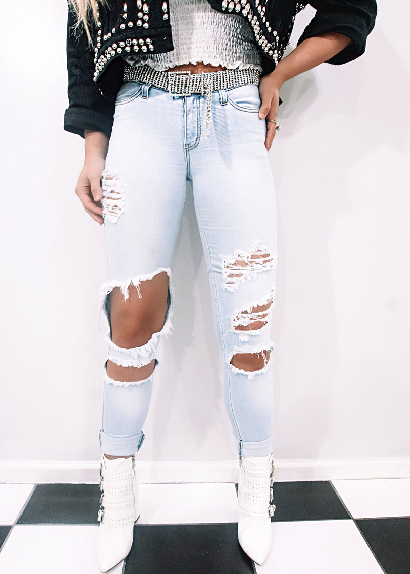Edgy Rolled Up Skinnies - Brunch Babe