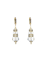 Seaside Crystal Earrings - Gold