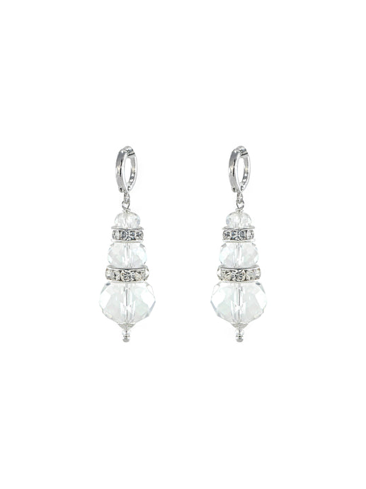 Seaside Crystal Earrings - Silver