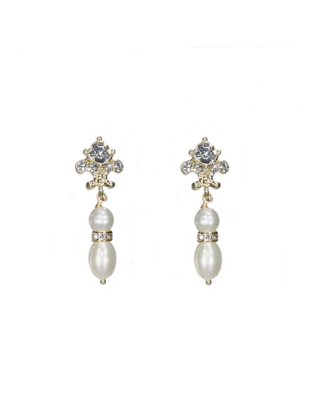 Joy Pearl Drop Earrings - Petite in Gold