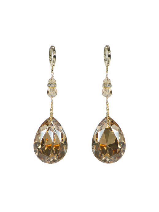Joy Crystal Drop Earrings - Short Gold