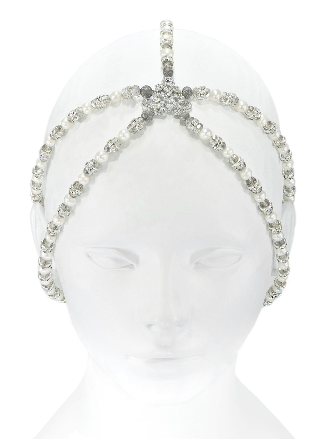 Enchantment Pearl Drape Headpiece - Silver