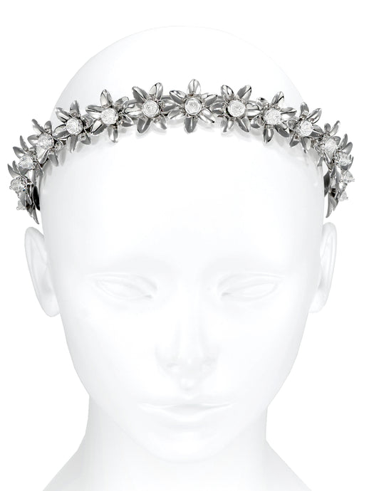 Joy Vintage Flower Headband - Silver