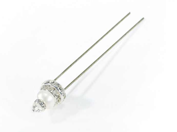Finishing Touch Pearl Hairpin - Silver