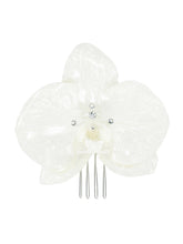 Enchantment Orchid Hair Comb - Silver/White
