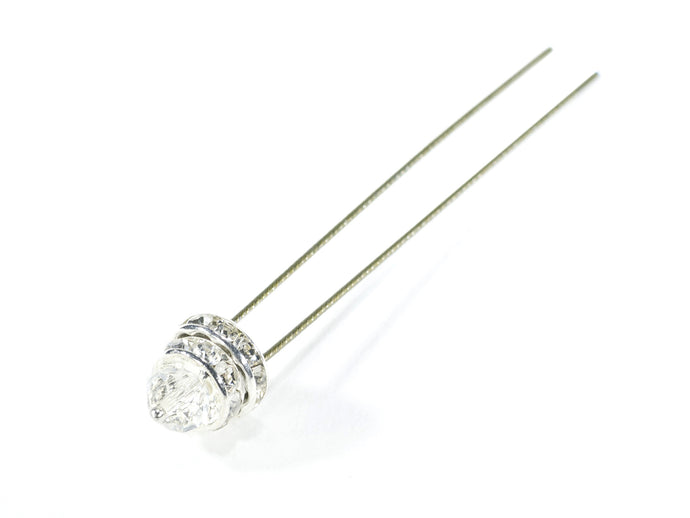 Finishing Touch Small Crystal Hairpin - Silver
