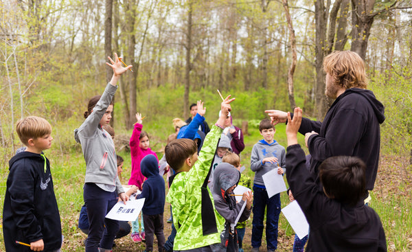 Teaching kids about nature at animal sanctuary